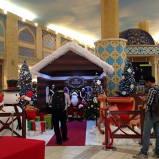 Visiting Santa in Dubai
