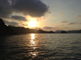 Muscat at Sunset from Sea